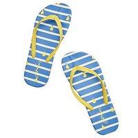 Joules Flip Flop Bluprstp, Blue Pear Stripe, Size 3, Women