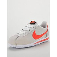 Nike Classic Cortez Leather - Off White/Coral , Off White/Coral, Size 6, Women