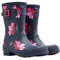 Joules Molly Welly Navmltflr - Navy, Navy Multi Floral, Size 4, Women
