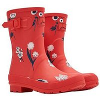 Joules Molly Welly - Red Botanical, Red Botanical, Size 7, Women