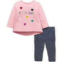 Mini V by Very Baby Girls Daydream Outfit - Multi Coloured, Multi, Size Age(Months): 0-3 Months (14.5Lbs)