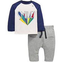 Mini V by Very Baby Boys Smile Outfit, Multi, Size Age(Months): 0-3 Months (14.5Lbs)