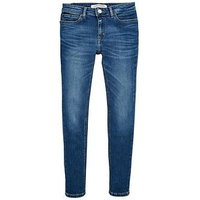 Calvin Klein Jeans Girls Authentic Skinny Jean, Blue, Size Age: 14 Years, Women