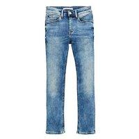 Calvin Klein Jeans Boys Azur Slim Jean, Blue, Size Age: 10 Years