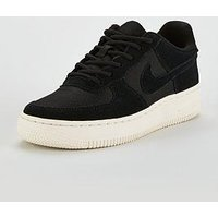 Nike Air Force 1 Junior Trainer, Black/White, Size 5