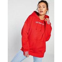 adidas Originals Coeeze Hoodie - Red, Red, Size 12, Women