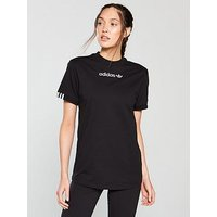 adidas Originals Coeeze Tee - Black , Black, Size 6, Women