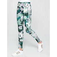 adidas Originals Print 3 Stripe Tight, Multi, Size 16, Women