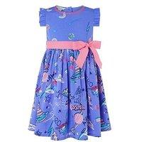 Monsoon Baby Rhiannan Print Dress, Lilac, Size 0-3 Months