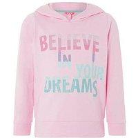Monsoon Believe Dreams Hoody, Pale Pink, Size Age: 9-10 Years, Women