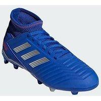 adidas Adidas Junior Predator 19.3 Firm Ground Football Boot, Blue, Size 13