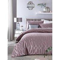 Product photograph showing Florence Geometric Jacquard Duvet Set