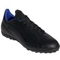adidas Adidas Mens X 18.4 Astro Turf Football Boot, Black, Size 8, Men