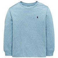 Ralph Lauren Boys Classic Long Sleeve T-Shirt - Light Blue, Light Blue, Size 18-20 Years=Xl