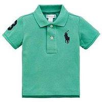 Ralph Lauren Baby Boy Short Sleeve Big Pony Polo - Green, Green, Size 12 Months