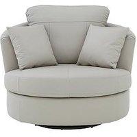 Merkle Leather/Faux Leather Swivel Chair