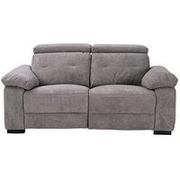 Product photograph showing Bowen Fabric 2 Seater Power Recliner Sofa