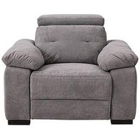 Product photograph showing Bowen Fabric Power Recliner Armchair