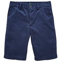 Ralph Lauren Boys Classic Slim Fit Chino Short - Clancy Blue, Blue, Size 12 Years