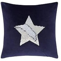 Product photograph showing Catherine Lansfield Sequin Star Cushion