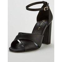 V By Very Wide Fit Best Block Heel Sandal Shoes - Black