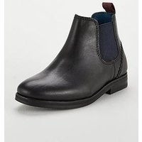 Baker by Ted Baker Boys Smart Chelsea Boot, Black, Size 12 Younger