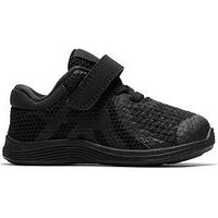 Nike Revolution 4 Infant Trainers, Black/Black, Size 6