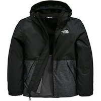 Boys, THE NORTH FACE Resolve Jacket, Black/Grey, Size L=13-14 Years