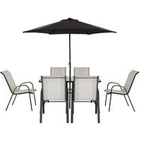 Product photograph showing Province 8-piece Dining Set Garden Furniture