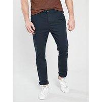 V by Very SLIM FIT STRETCH CHINO, Navy, Size 30, Inside Leg Regular, Men
