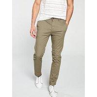 V by Very SLIM FIT STRETCH CHINO, Light Khaki, Size 36, Inside Leg Short, Men