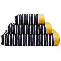 Joules Kensington Stripe 100% Cotton Woven Jacquard 550Gsm Bath Sheet - Hand Towel