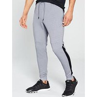 UNDER ARMOUR Microthread Fleece Joggers, Grey Heather/Black, Size M, Men