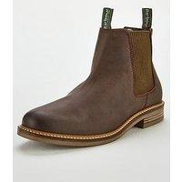 Barbour Farsley Chelsea Boot, Choco, Size 8, Men