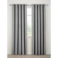Thermal Velour Lined Eyelet Curtains