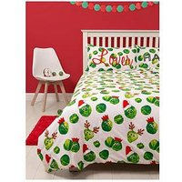 Easy on the Sprouts Christmas Double Duvet Cover Set, Multi