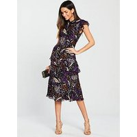 Whistles Montrose Dobby Dress - Purple