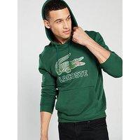 Lacoste Sportswear Big Croc Logo Hoodie - Green, Green, Size 5, Men