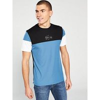Lacoste Colour Block T-Shirt - Blue, Blue, Size 7, Men