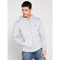 Lacoste Sportswear Classic Zip Through Hoodie - Grey, Grey, Size 7, Men