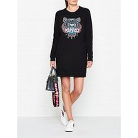 Kenzo Classic Tiger Head Sweatshirt Dress - Black