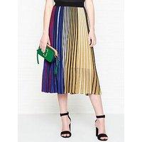 Kenzo Rainbow Stripe Rib Knit Skirt - Multi