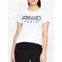 Kenzo Floral Logo T-Shirt - White
