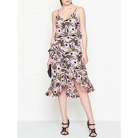 Kenzo Flying Phoenix Print Ruffled Dress - Pink