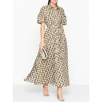 Kenzo Spot Belted Cotton Maxi Dress - Beige