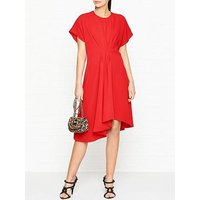 Kenzo Asymmetric Midi Dress - Red