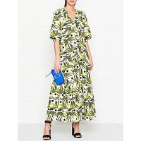 Kenzo Flying Phoenix Print Maxi Dress - White