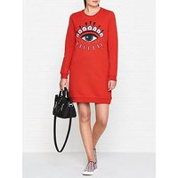 Kenzo Classic Eye Sweatshirt Dress - Red