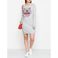 Kenzo Classic Tiger Head Sweatshirt Dress - Grey