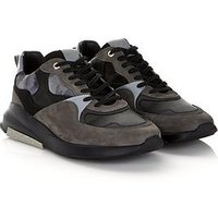 ANDROID HOMME Men's Malibu Camo Velvet Runner Trainers - Grey, Khaki, Size Uk 11 = It/Eu 45, Men